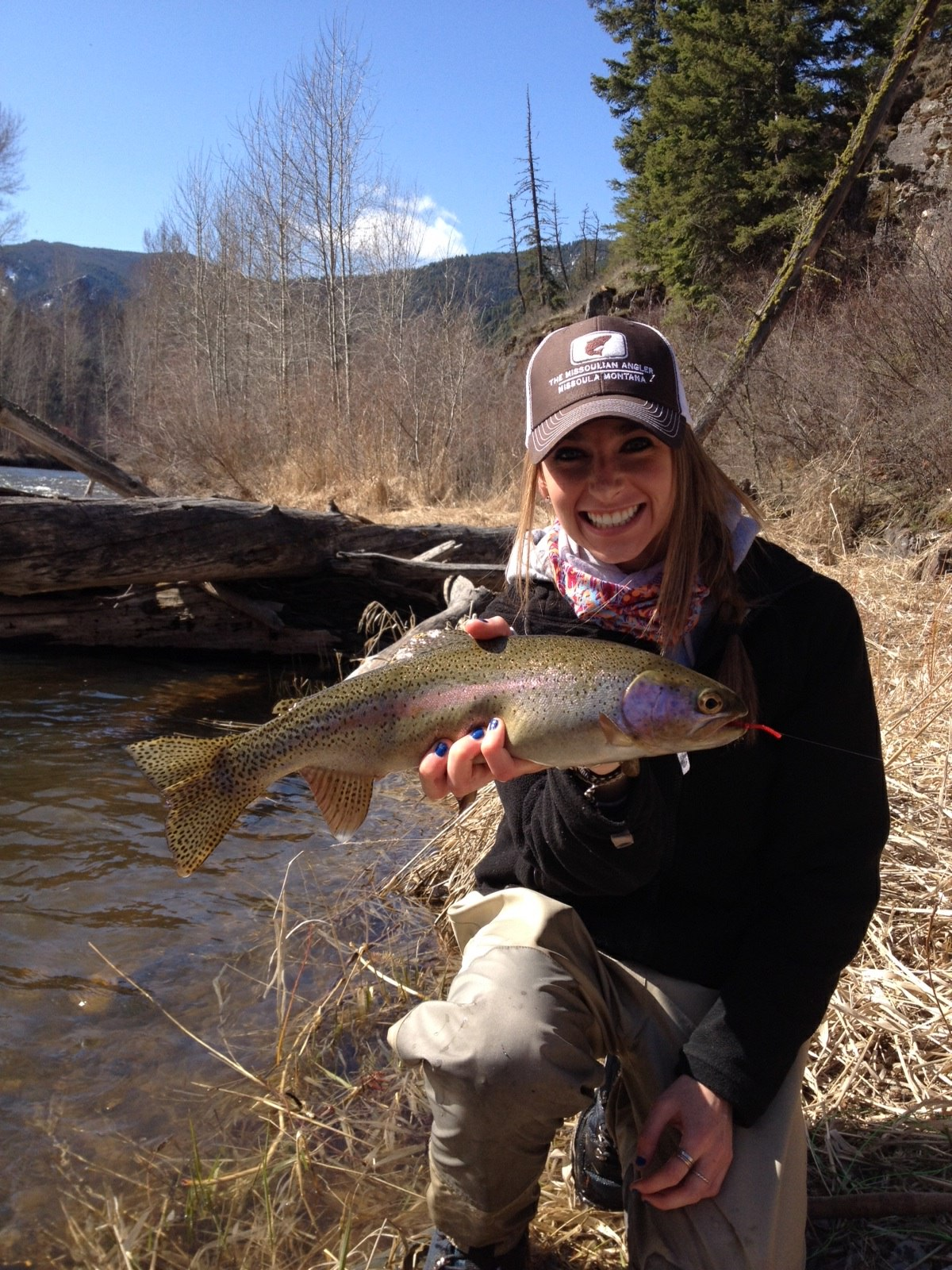 The missoulian angler fly shop the lady manglers the for Fishing in montana